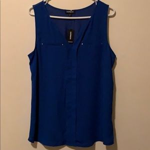 Royal blue Express top